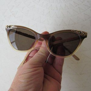 1950s Brown and Gold Sunglasses